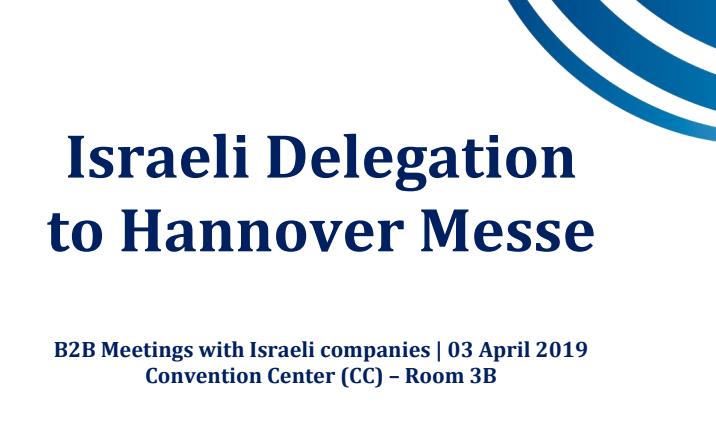 Israel Delegation to Hannover Messe